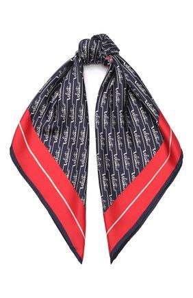 Женский шелковый платок valentino garavani VALENTINO синего цвета, арт. TW2EI114/SWF   Фото 1