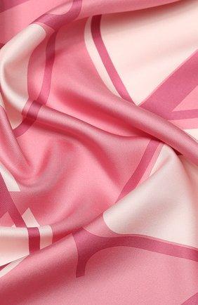 Женский шелковый платок VALENTINO розового цвета, арт. TW2EI114/HLN | Фото 2