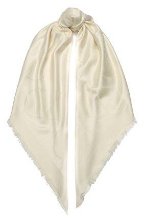 Женский платок из смеси шелка и шерсти VALENTINO кремвого цвета, арт. TW2EB104/AJB | Фото 1