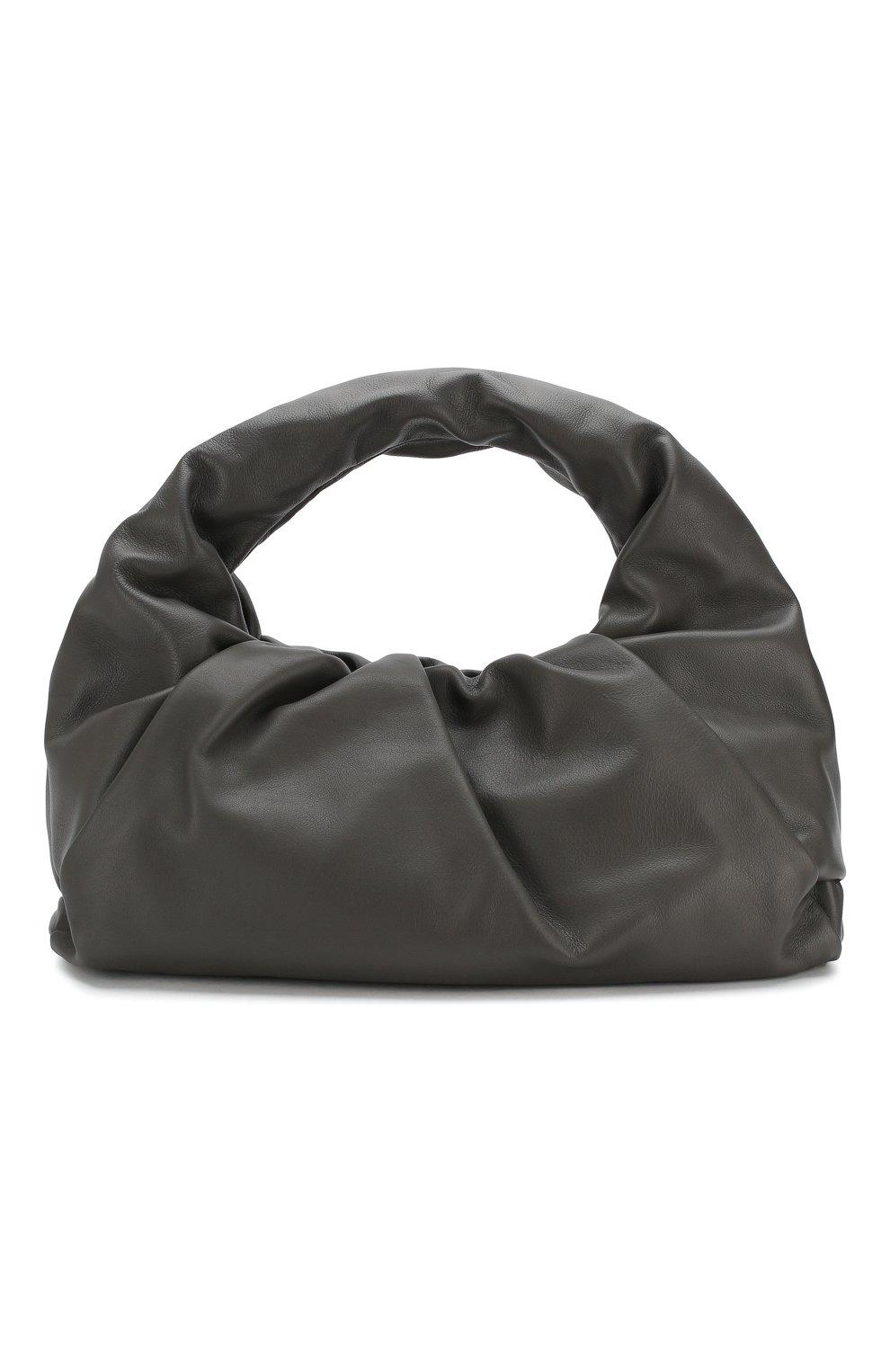 Женская сумка shoulder pouch BOTTEGA VENETA темно-серого цвета, арт. 610524/VCP40 | Фото 1