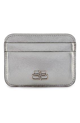 Женский кожаный футляр для кредитных карт BALENCIAGA серебряного цвета, арт. 601386/1JR0Y | Фото 1