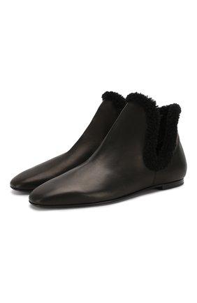 Женские кожаные ботинки eros THE ROW черного цвета, арт. F1053-L64SH01 | Фото 1