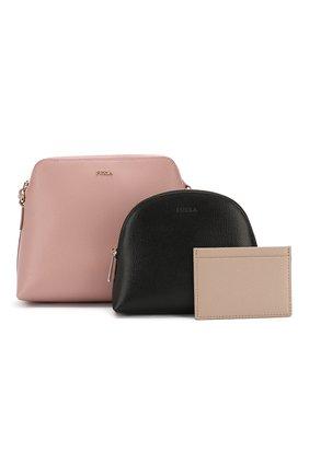 Набор из кожаной сумки-кошелька Boheme с косметичкой и визитницей | Фото №1