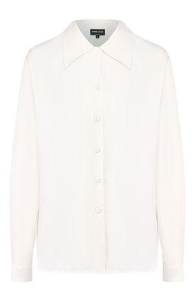 Женская шелковая рубашка GIORGIO ARMANI белого цвета, арт. 9WHCCZ03/TZ351 | Фото 1