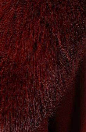 Женское пальто с меховым воротником COLOMBO бордового цвета, арт. CP00288/CP/6405-U | Фото 5
