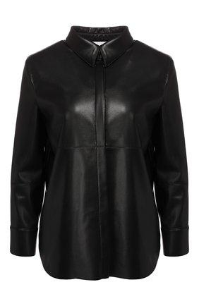 Женская рубашка NANUSHKA черного цвета, арт. NAUM_BLACK_VEGAN LEATHER | Фото 1