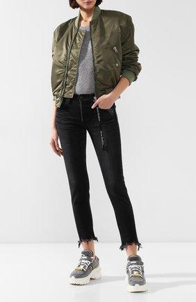 Женские джинсы MOUSSY черного цвета, арт. 025CAC11-2050 | Фото 2