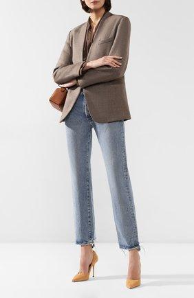 Женские джинсы MOUSSY голубого цвета, арт. 025CAC11-2300 | Фото 2