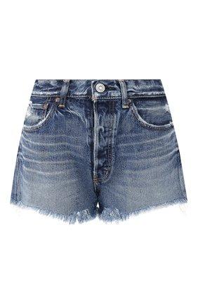 Женские джинсовые шорты MOUSSY синего цвета, арт. 025CAC11-2340 | Фото 1