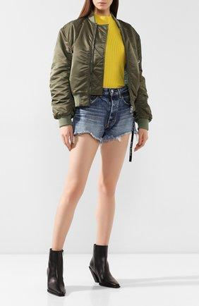 Женские джинсовые шорты MOUSSY синего цвета, арт. 025CAC11-2340 | Фото 2
