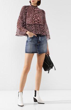 Женская джинсовая юбка MOUSSY синего цвета, арт. 025CAC11-2370 | Фото 2