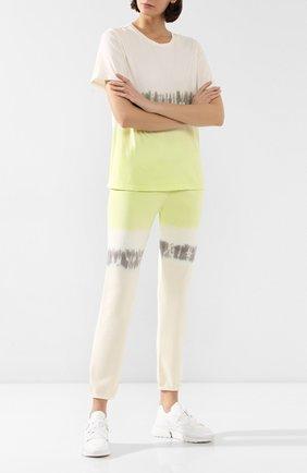 Женские хлопковые брюки MONROW желтого цвета, арт. HB0128-83 | Фото 2