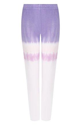 Женские хлопковые брюки MONROW фиолетового цвета, арт. HB0128-83 | Фото 1