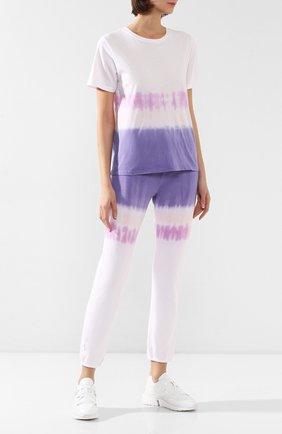 Женские хлопковые брюки MONROW фиолетового цвета, арт. HB0128-83 | Фото 2