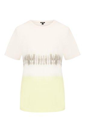 Женская хлопковая футболка MONROW желтого цвета, арт. HT0415-49 | Фото 1