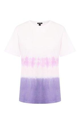 Женская хлопковая футболка MONROW фиолетового цвета, арт. HT0415-49 | Фото 1