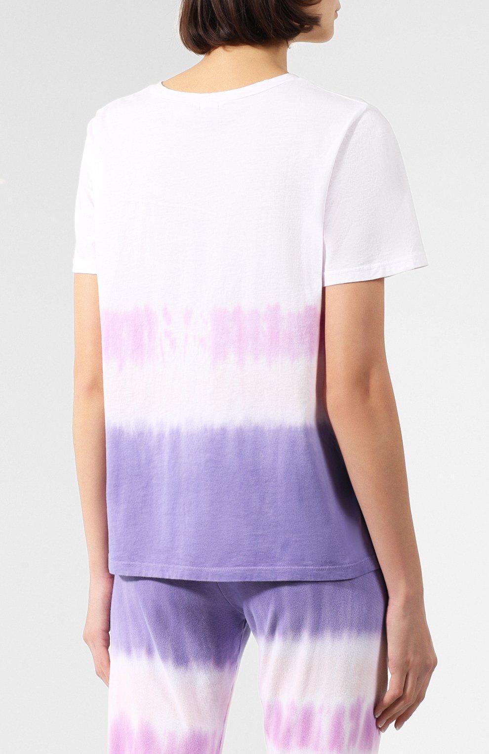 Женская хлопковая футболка MONROW фиолетового цвета, арт. HT0415-49 | Фото 4