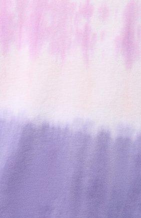 Женская хлопковая футболка MONROW фиолетового цвета, арт. HT0415-49 | Фото 5
