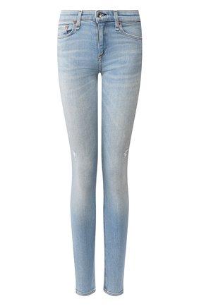 Женские джинсы RAG&BONE синего цвета, арт. WDD19F2650I0AX | Фото 1