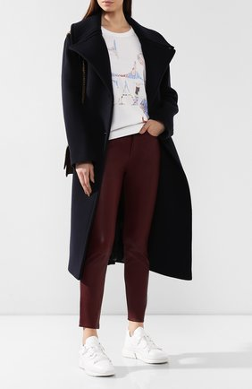 Женские кожаные брюки RAG&BONE бордового цвета, арт. WAW19F7049LF49 | Фото 2