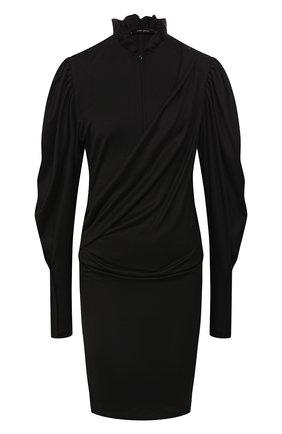 Женское шерстяное платье ISABEL MARANT черного цвета, арт. R01562-19H029I/DIVYA | Фото 1