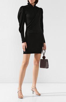 Женское шерстяное платье ISABEL MARANT черного цвета, арт. R01562-19H029I/DIVYA | Фото 2