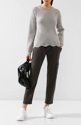 Женский кашемировый свитер FTC серого цвета, арт. 770-0170 | Фото 2