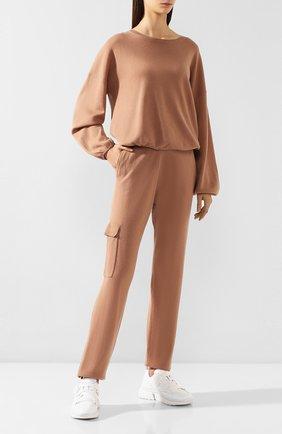Женский кашемировый свитер FTC коричневого цвета, арт. 776-0050 | Фото 2