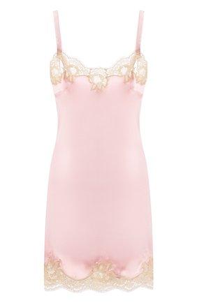 Женская сорочка из смеси шелка и хлопка DOLCE & GABBANA светло-розового цвета, арт. 06A00T/FUAD8 | Фото 1