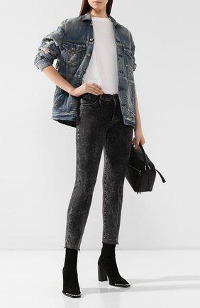 Женские джинсы FRAME DENIM серого цвета, арт. LHSTRA710/A | Фото 2