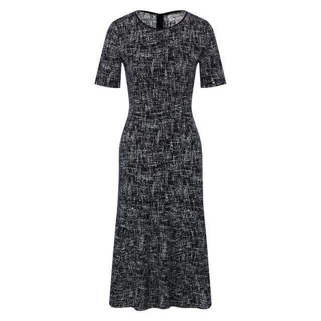 Платье из смеси шерсти и вискозы Oscar de la Renta