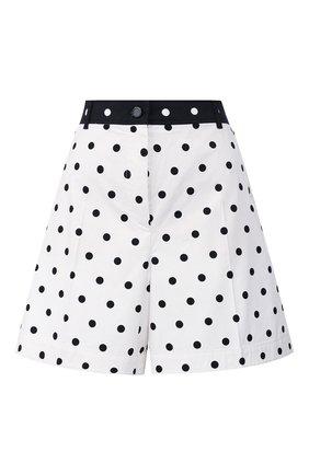 Женские хлопковые шорты ESCADA SPORT черно-белого цвета, арт. 5032239 | Фото 1