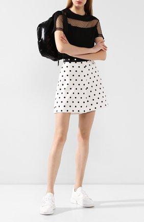 Женские хлопковые шорты ESCADA SPORT черно-белого цвета, арт. 5032239 | Фото 2