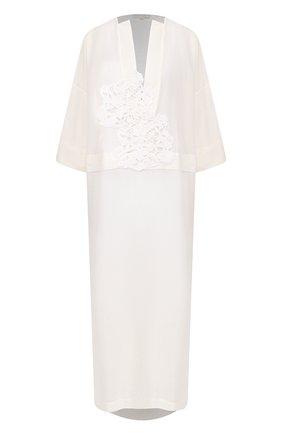Женское туника из смеси хлопка и шелка LILA EUGENIE белого цвета, арт. 2010 | Фото 1