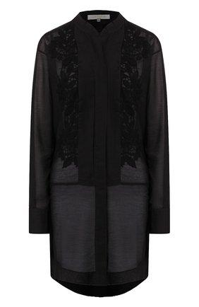 Женское туника из смеси хлопка и шелка LILA EUGENIE черного цвета, арт. 2013 | Фото 1