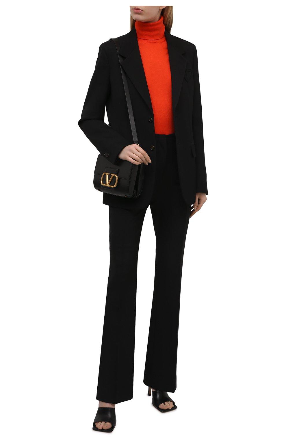 Женская кашемировая водолазка RALPH LAUREN оранжевого цвета, арт. 290615195 | Фото 2