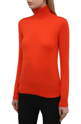 Женская кашемировая водолазка RALPH LAUREN оранжевого цвета, арт. 290615195 | Фото 3