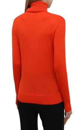 Женская кашемировая водолазка RALPH LAUREN оранжевого цвета, арт. 290615195 | Фото 4