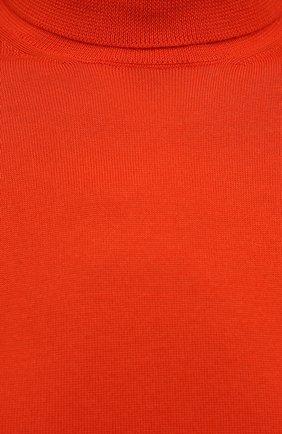 Женская кашемировая водолазка RALPH LAUREN оранжевого цвета, арт. 290615195 | Фото 5