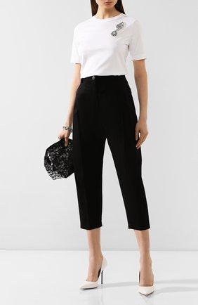 Женские хлопковые брюки ESCADA черного цвета, арт. 5031948 | Фото 2