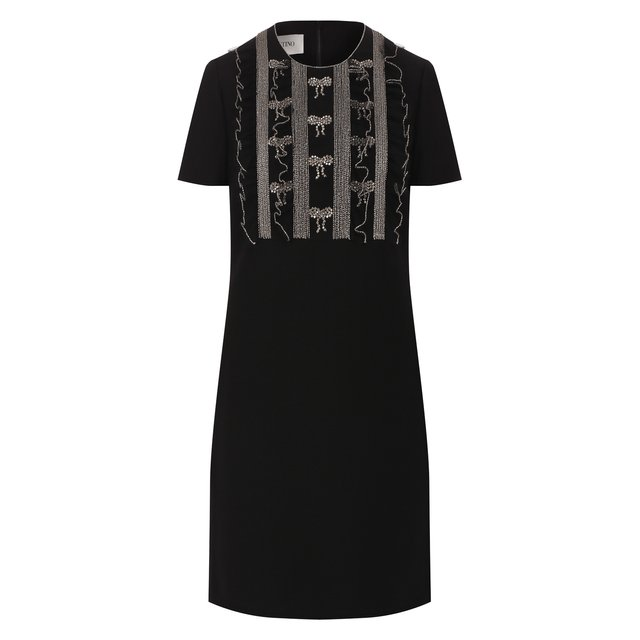 Платье из смеси шерсти и шелка Valentino