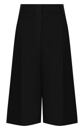 Женские шорты из смеси шерсти и шелка VALENTINO черного цвета, арт. TB3RD0551CF | Фото 1