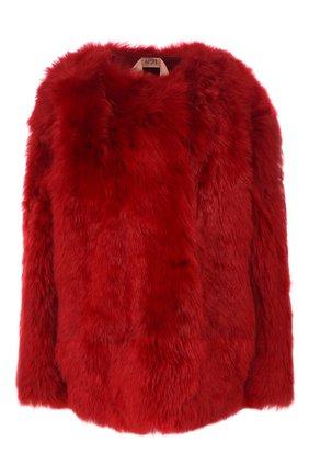 Женская шуба из меха овчины N21 красного цвета, арт. 19I N2S0/Z011/6824 | Фото 1