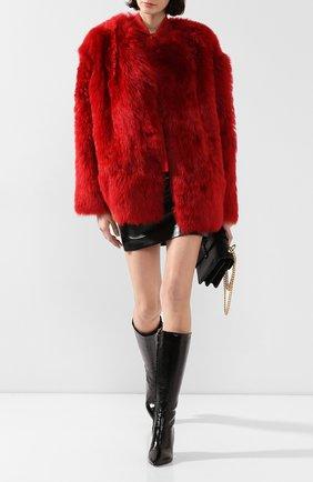 Женская шуба из меха овчины N21 красного цвета, арт. 19I N2S0/Z011/6824 | Фото 2