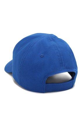 Мужской хлопковая бейсболка BALENCIAGA синего цвета, арт. 590758/410B2 | Фото 2