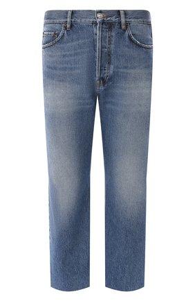 Мужские укороченные джинсы BALENCIAGA синего цвета, арт. 594609/TDW14 | Фото 1