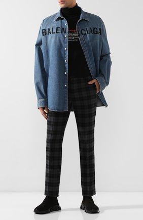 Мужская джинсовая рубашка BALENCIAGA синего цвета, арт. 600280/TYE24 | Фото 2