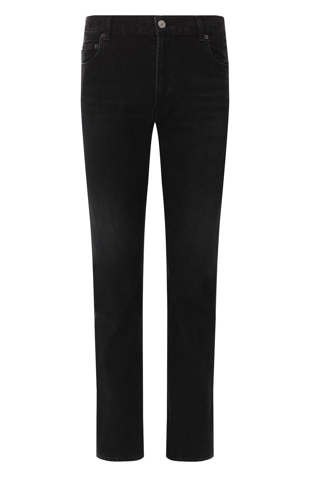 Мужские джинсы BALENCIAGA черного цвета, арт. 600382/TDW16 | Фото 1
