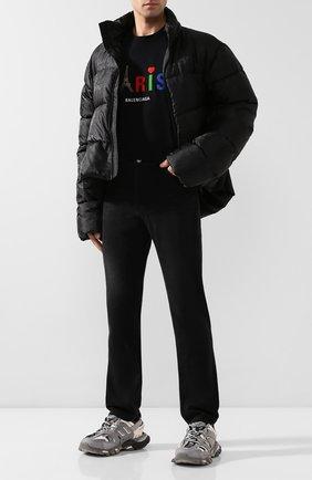 Мужские джинсы BALENCIAGA черного цвета, арт. 600382/TDW16 | Фото 2