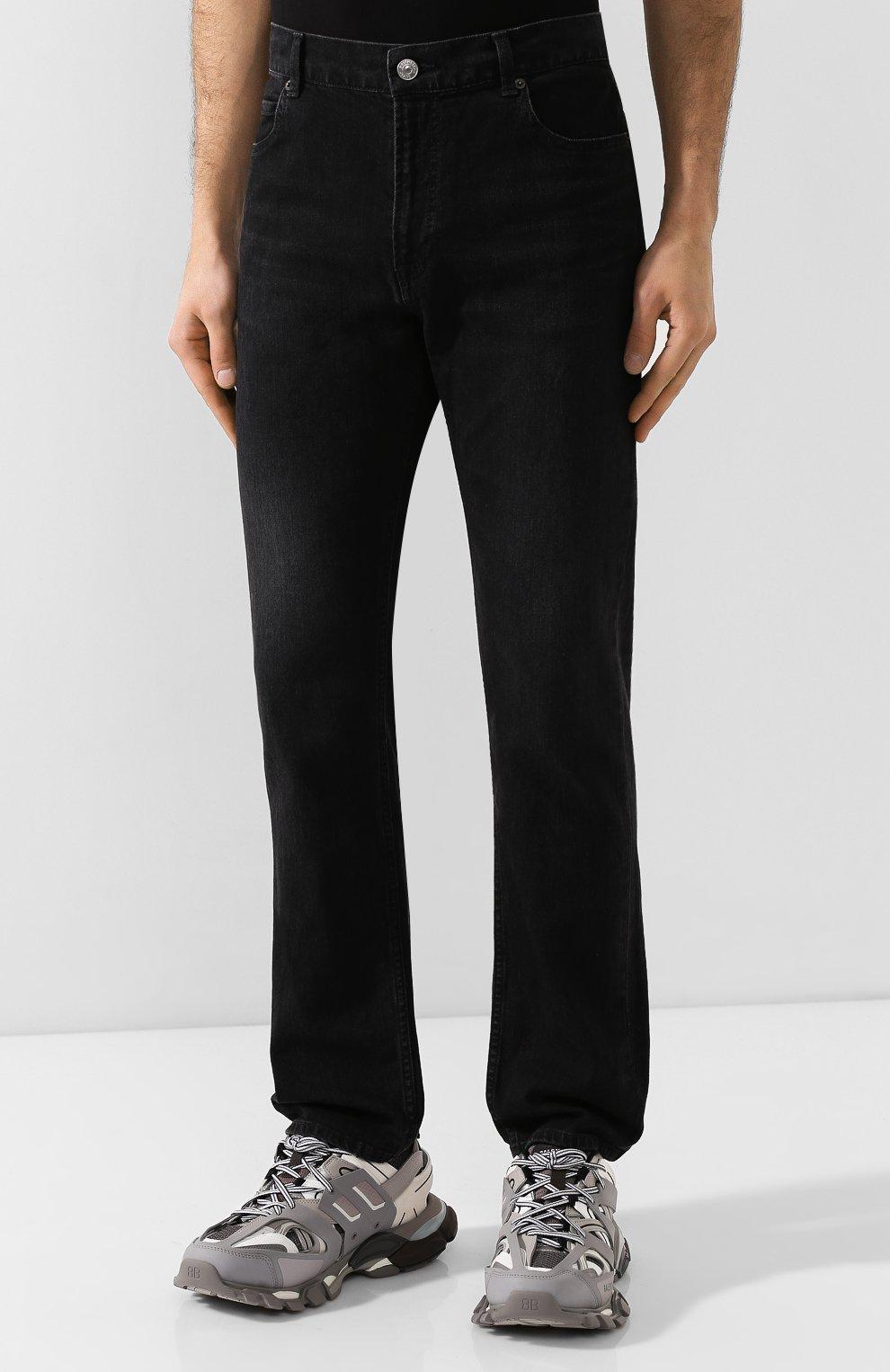Мужские джинсы BALENCIAGA черного цвета, арт. 600382/TDW16 | Фото 3